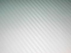 Технология Bubble Free (с каналами для выхода воздуха) 3D Карбон цвет белый