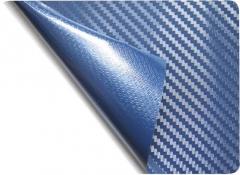 Технология Bubble Free (с каналами для выхода воздуха) 3D Карбон цвет синий