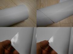 3D Карбон цвет белый